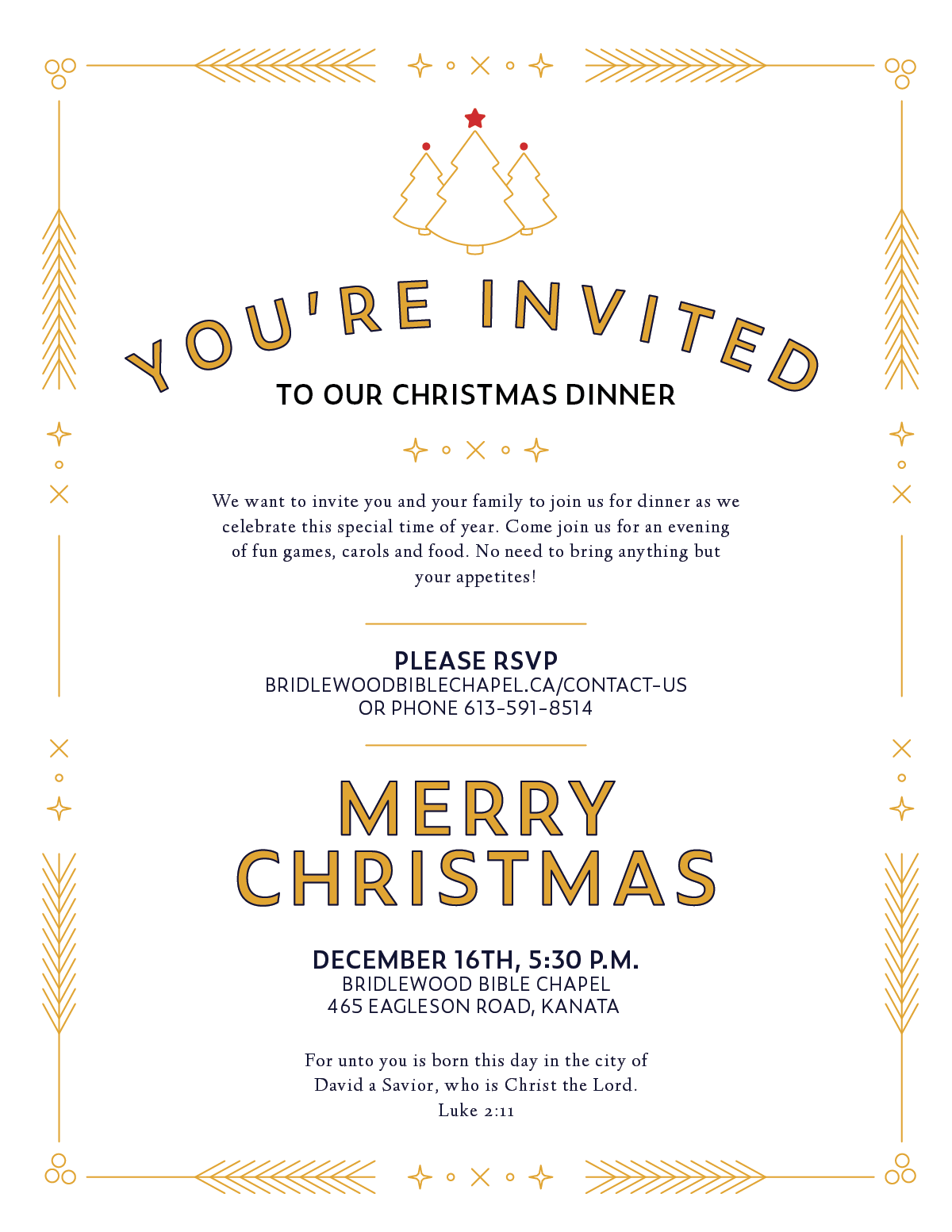 You\'re Invited to Our Christmas Dinner | Bridlewood Bible Chapel